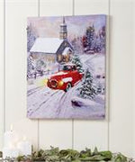 Lighted Christmas Design Canvas Print