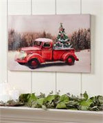 Red truck light up print