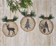 Tree Stump Design Ornaments