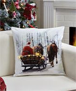 LED Lighted Pillow - Sleigh