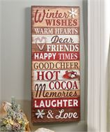 Winter Wishes Tall Sign