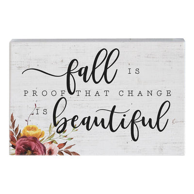 Fall Is Proof Wood Sign