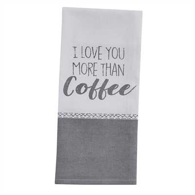I Love Coffee Print Dishtowel