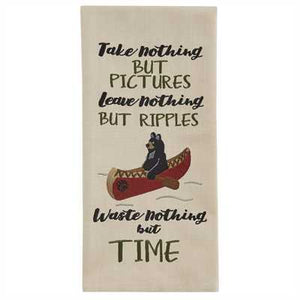 Take Nothing but pictures Embroidered Dishtowel