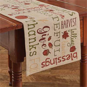 Harvest Sentiments Table Runner