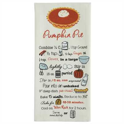Pumpkin Pie Printed Dishtowel
