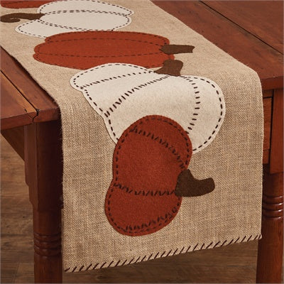 Pumpkin Patch Felt Table Runner - 42