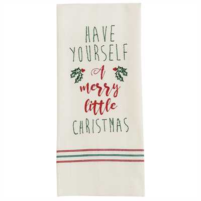 Have Yourself Embroidered Dishtowel