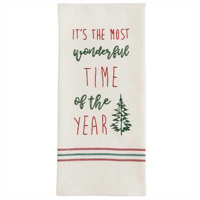 Time Of The Year Embroidered Dishtowel