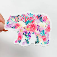 Wildflower Paper Company - Mama Bear Bright Floral Sticker Decal