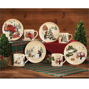 Hometown Holiday Dessert Plate Set