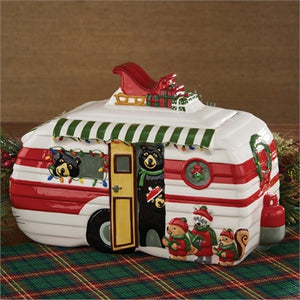 Hometown Holiday Cookie Jar