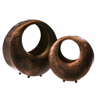 Brown Metal Tealight Holder