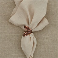 Double Leaf Napkin Ring - Bronze