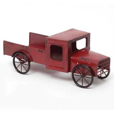 Reclaimed Metal Truck - Red