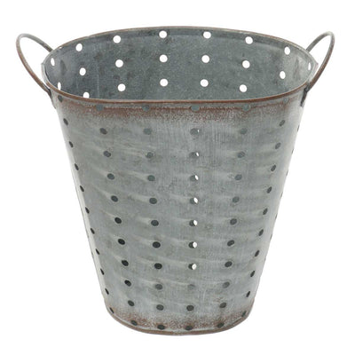 OVAL METAL PUNCH DOT BUCKET