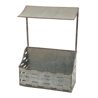METAL GARDEN PLANTER WITH CANOPY