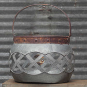 Round Metal Lattice Basket-Large
