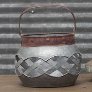 Round Metal Lattice Basket-small