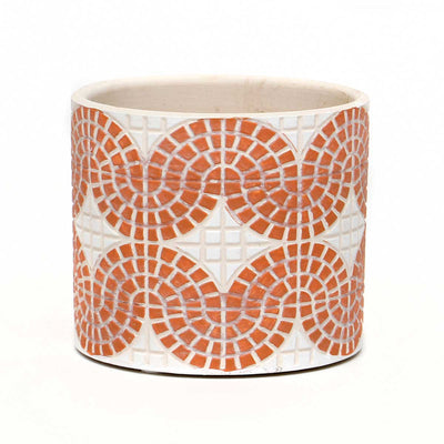 CONCRETE MOSAIC CORAL POT MEDIUM
