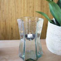 glass star hurricanes with metal insert \ small