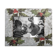 5X7 GALVANIZED HOLLY PHOTO FRAME