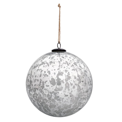 8'' Classic Silver Ball Ornament