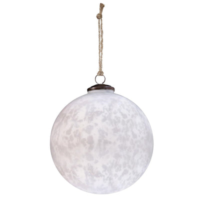 8'' Classic White Ball Ornament
