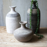 gray clay vessel