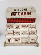 Cabin Absorbent Stone Coasters