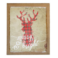Merry & Bright Canvas Sign
