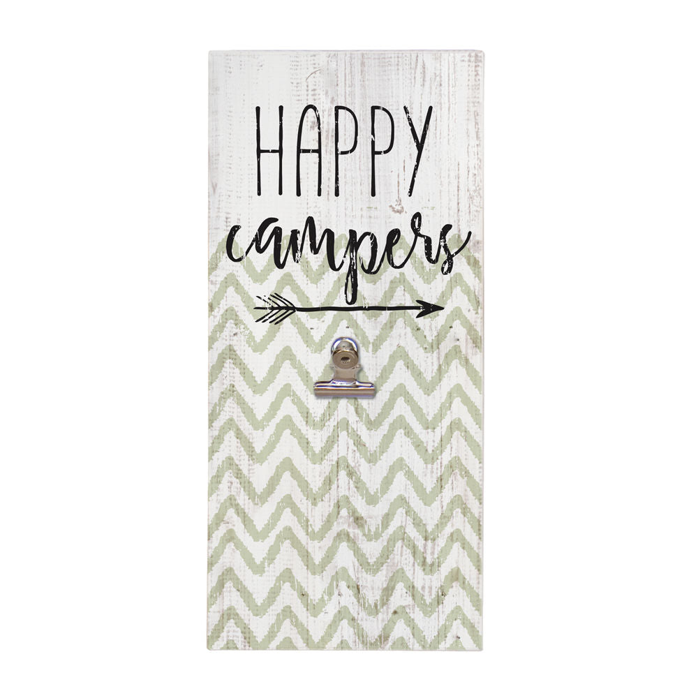 Happy Campers Picture Clip Sign