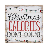 Christmas Calories Don't Count Sign