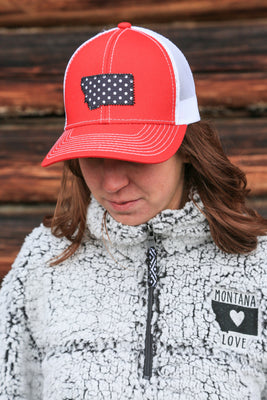 MT Love Trucker in Red / White Ladies