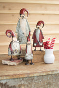 GALVANIZED AND PAINTED SANTAS
