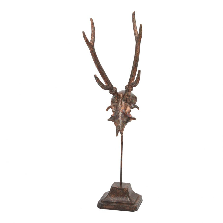 DEER ANTLERS ANTIQUED COPPER