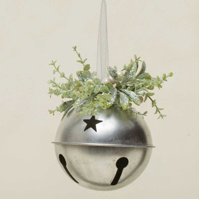 MISTLETOE & PRIVET SILVER BELL ORNAMENT 6