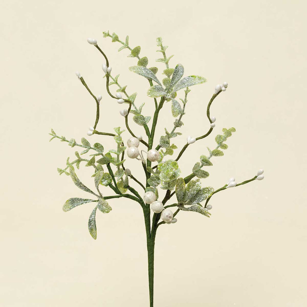 WINTER MIXED GREENS MISTLETOE & PRIVET PIK 12""