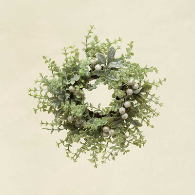 WINTER MIXED GREENS, MISTLETOE & PRIVET WREATH 10