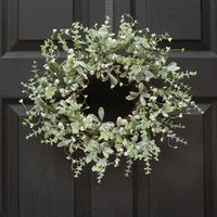 MISTLETOE & PRIVET WREATH 15""