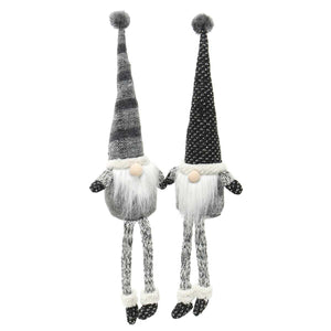 URBAN GREY GNOME WITH FLOPPY LEGS 2 ASSORTED STRIPE/DOT 19""