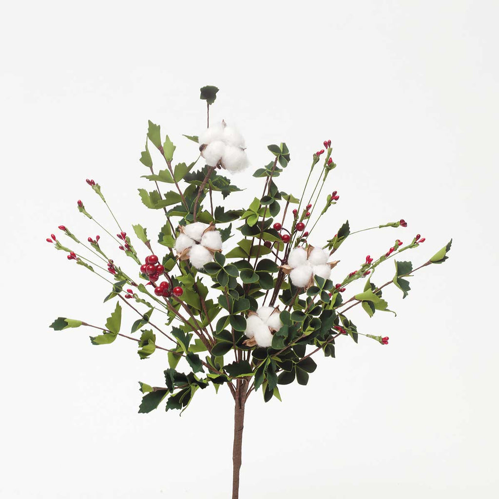 CAROLINA HOLIDAY COTTON & BERRY BUSH 21""