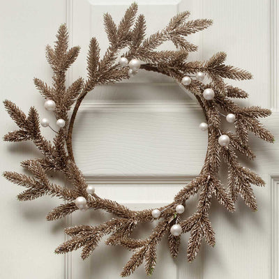 CHAMPAGNE CHIC PINE & BERRY WREATH