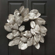 STERLING SILVER MAGNOLIA LEAF WREATH 24""