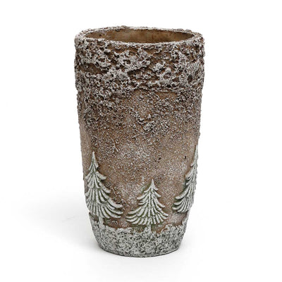 Tall Pot with Trees