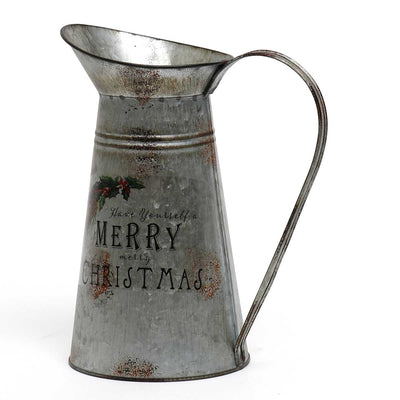 METAL CHRISTMAS PITCHER