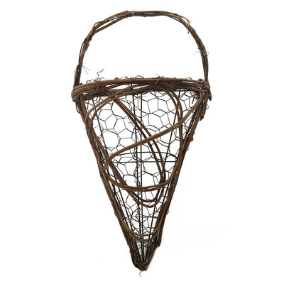TWIG AND WIRE CONE WALL POCKET