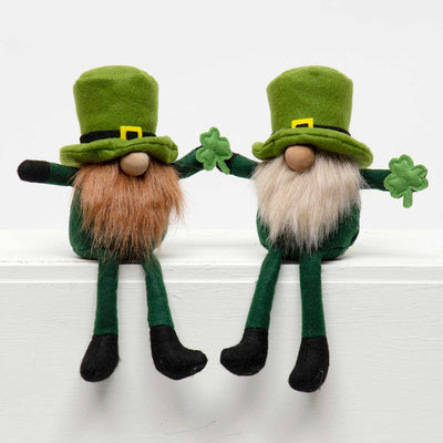 PATTY SHAMROCK GNOME with WOOD NOSE  RE/BE LARGE 3.5