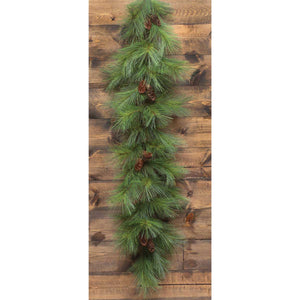 WYOMING PINE GARLAND WITH CONES 6'
