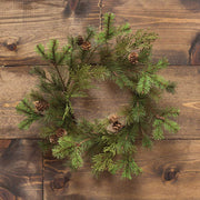 MOUNTAIN CEDAR MIXED PINE MINI WREATH